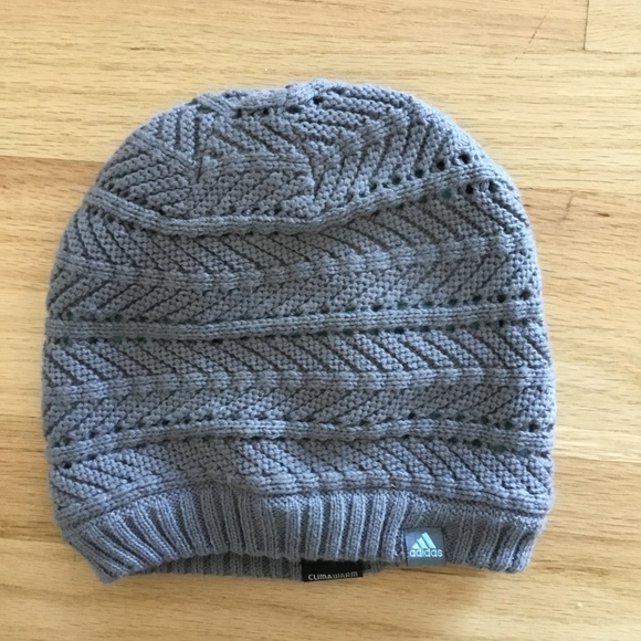 f65f5d5f3e5 adidas Accessories - ADIDAS ClimaWarm Knit Lined Beanie Hat Gray Winter